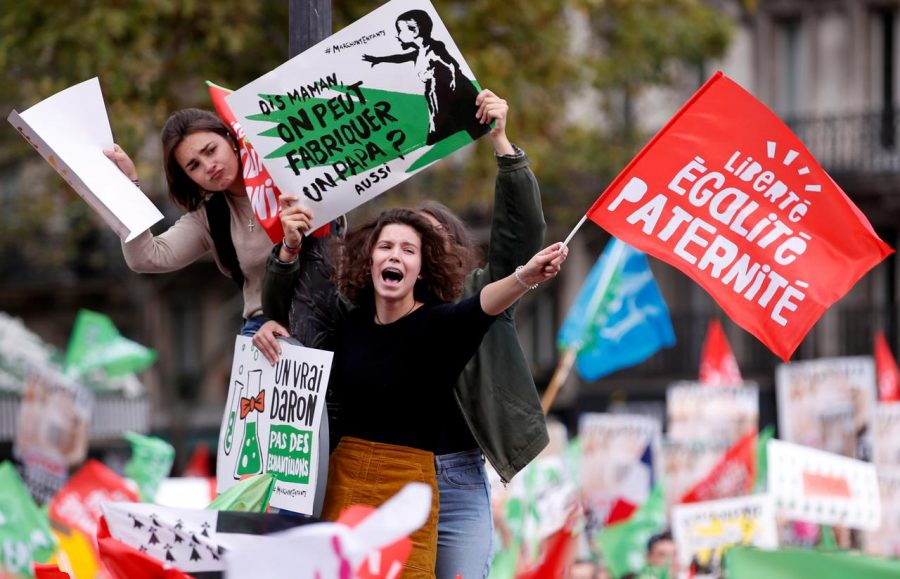 French Protesters Rally Against Expanded In Vitro Fertilization Bill