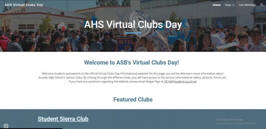 Clubs Day's Shift to an Online Format