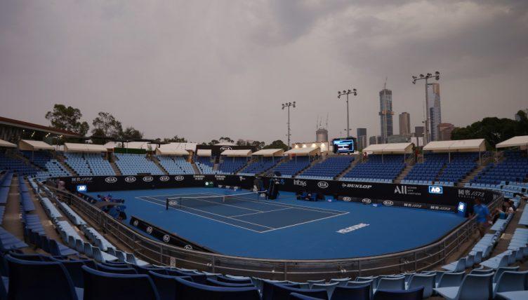 Australian Open Tennis Players Practice in Quarantine