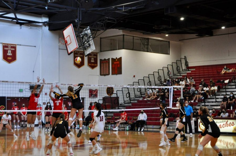 Girls Varsity Volleyball Arcadia v. Burroughs Sept. 21